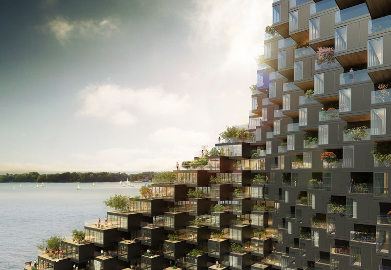 Architecture firm ODA New York, have designed a proposal for a waterfront building in Toronto, Canada