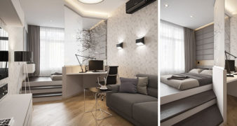 Russian designer created this design for a small apartment