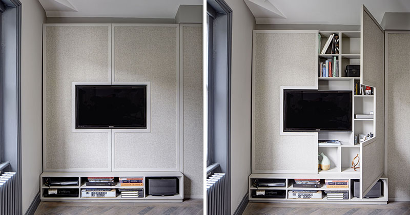 Interior design idea hide shelves with large cabinet doors jethro seymour top midtown - Custom cabinet doors toronto ...