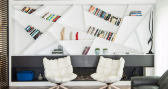 A bookshelf that perfectly fits the living room