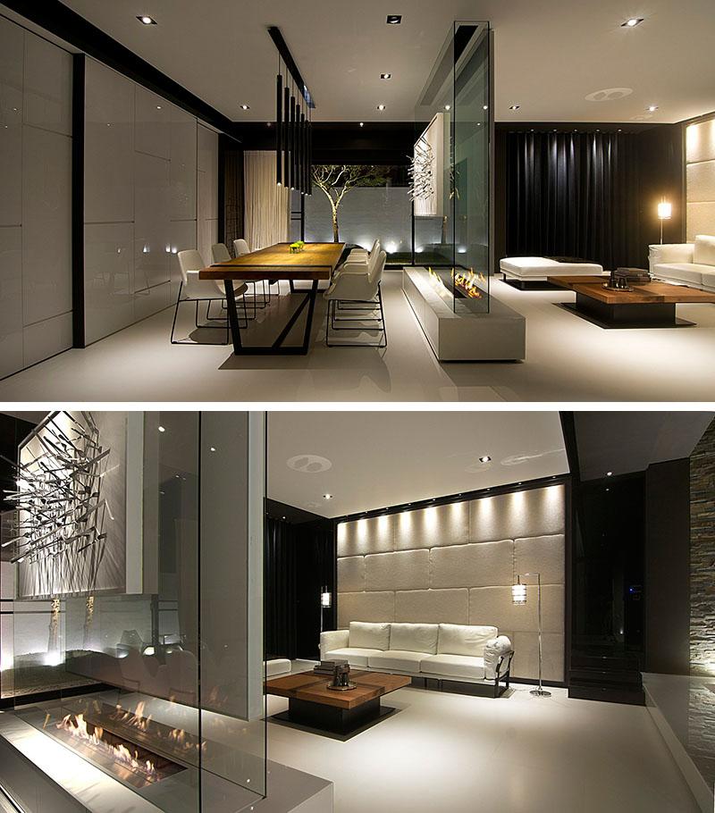 Interior design idea use a glass wall to divide the space for Glass interior design