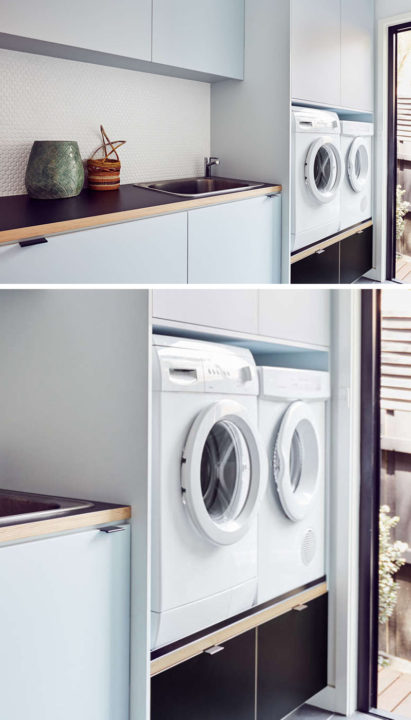 Laundry Room Design Idea: Put Your Washer And Dryer Up