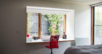 Small Home Office Idea: Create a study area around the window | Jethro Seymour, mid-town Toronto real estate broker