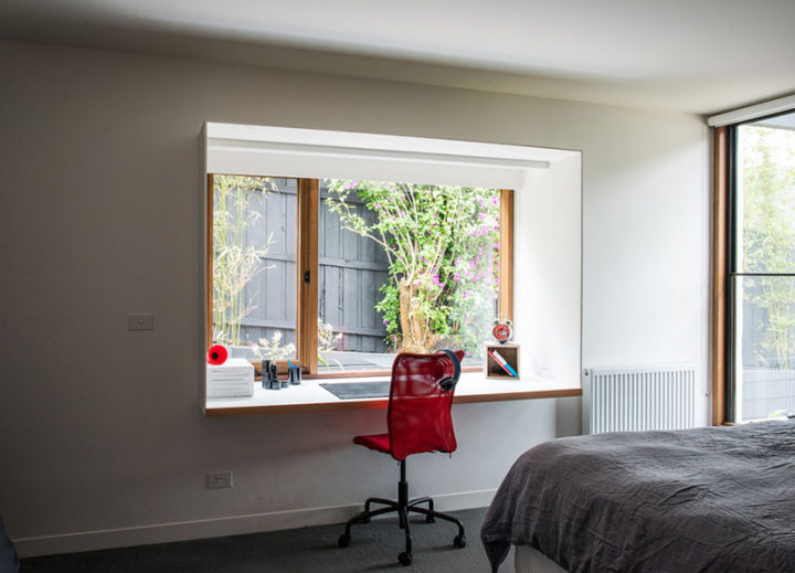 Small Home Office Idea: Create a study area around the window | Jethro Seymour, mid-town Toronto real estate broker